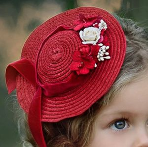 Dollcake NWT hair clip fascinator red hat Barrett